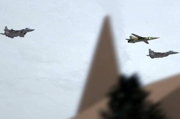 Реконструкция сопровождения МиГ-23М F-15. /Фото: warhead.su
