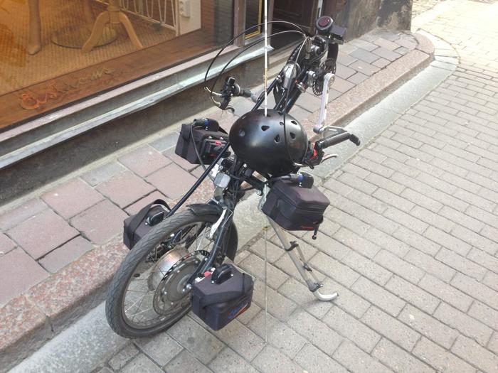 Похоже на одноколесный мотоцикл. /Фото: pikabu.ru