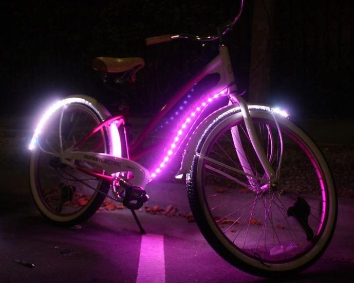 Движущаяся подсветка для велосипеда. /Фото: morefactov.ru