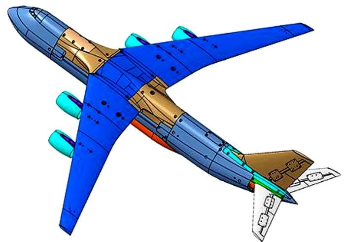 Самолёт проектируют так, что он сможет транспортировать крупные и тяжёлые грузы. /Фото: topwar.ru