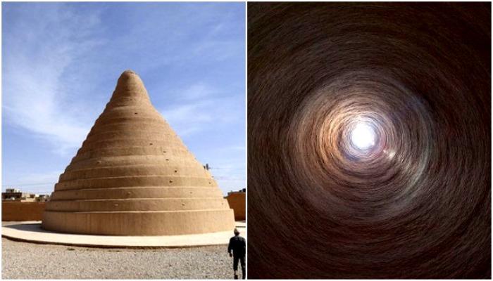 Иранский яхчал. Вид снаружи и изнутри. /Фото: wikipedia.org