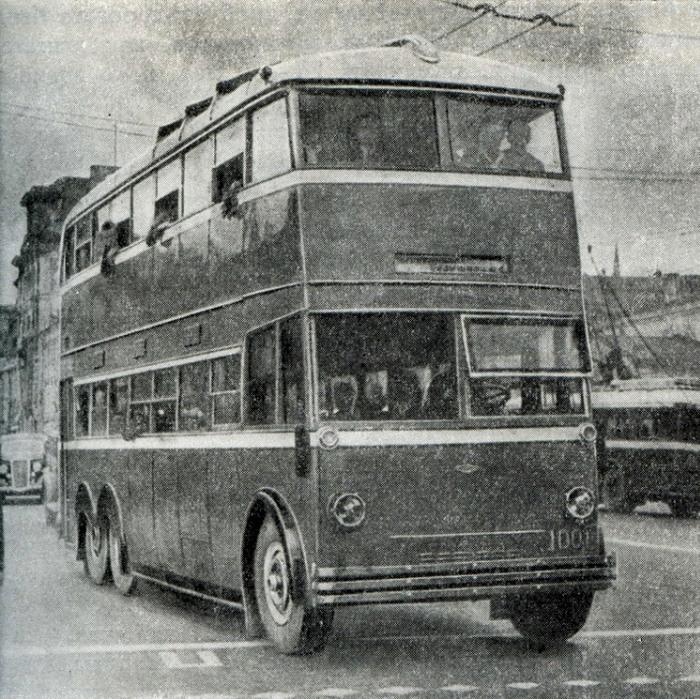 Первый советский двухэтажный автобус, 1938 год. /Фото: livejournal.com