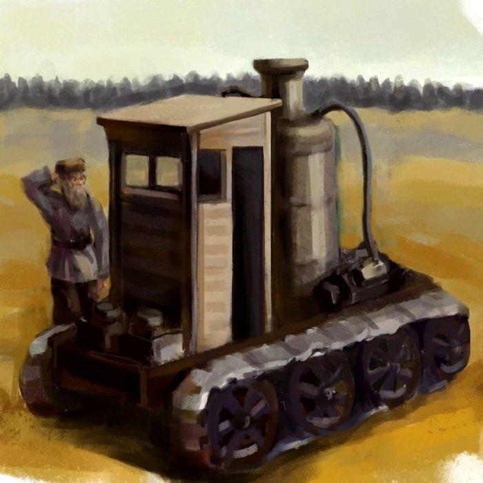 Концепт-арт гусеничного трактора Блинова. /Фото: gazetaprotestant.ru