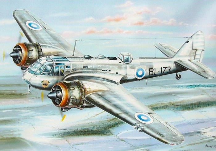 Бленхейм - один из четырёх бомбардировщиков, стоявших на вооружении ВВС Великобритании. /Фото: armedman.ru