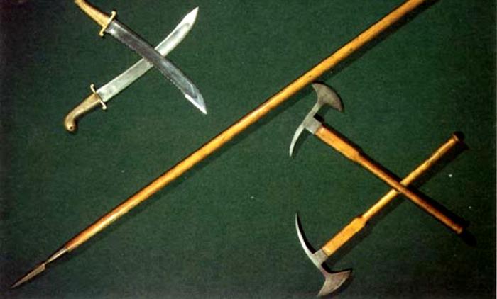 Интрепель активно использовался наравне с другим абордажным оружием. /Фото: sailhistory.ru