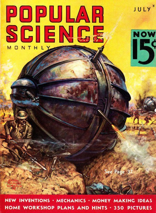 Обложка журнала Популярная наука, 1935 год. /Фото: Pinterest.com