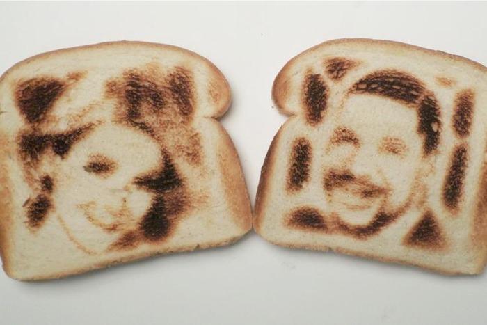 На тост можно нанести любое изображение, даже селфи. /Фото: tntmagazine.com