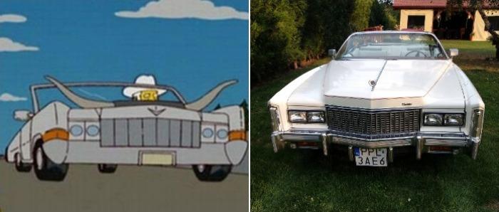 Cadillac мультяшного богача существует на самом деле. /Фото: blogspot.com, allegro.com