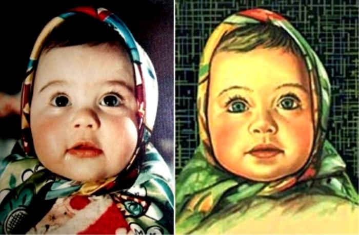 Елена Гериназ - девочка, изображенная на обертке Аленки. /Фото: etroff.wt