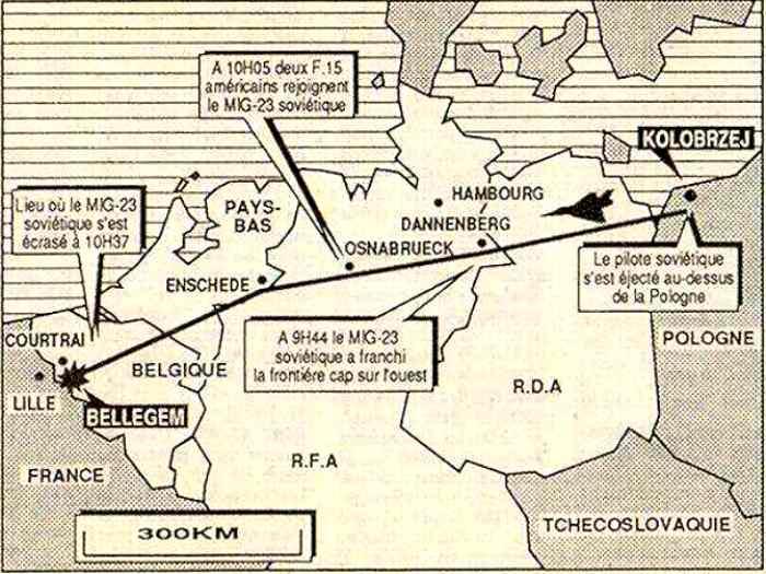 План перехвата МиГ-23. /Фото: radioscanner.ru