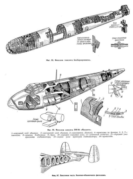 Схема конструкции бомбардировщика. / Фото: airpages.ru