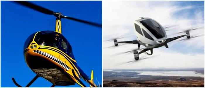 Новые концепты воздушного такси - это не просто создание вертолетов необычного вида. /Фото: trans.ru, rodovid.me