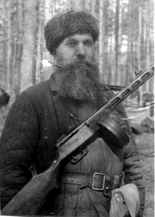 Бородатый советский партизан. /Фото: wio.ru