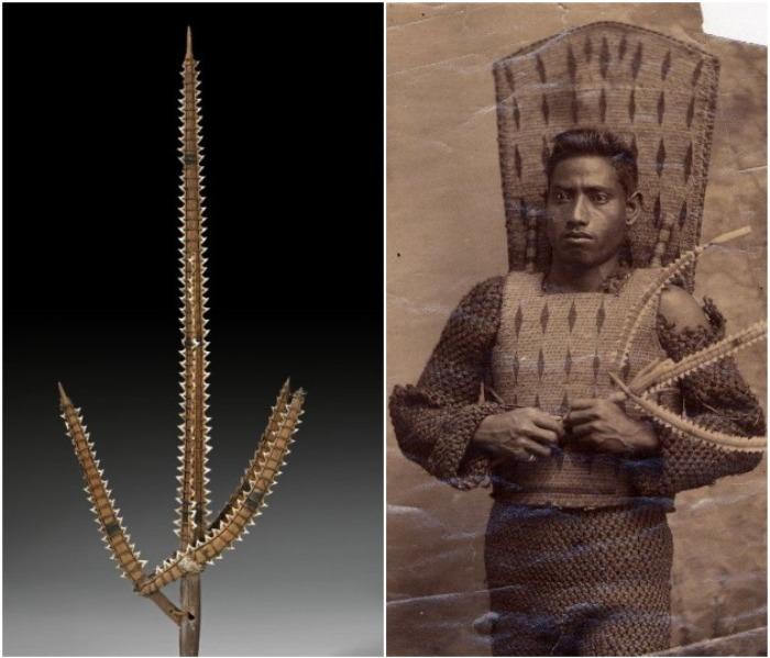 Необычное оружие аборигенов Микронезии. \Фото: tumblr.com, pinterest.com