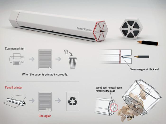 Такой принтер делает использование карандашей безотходным. /Фото: interface.ru