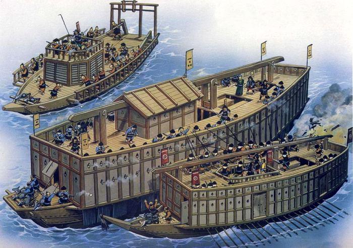 Флот средневековой Кореи был масштабным и громоздким. /Фото: warspot.ru