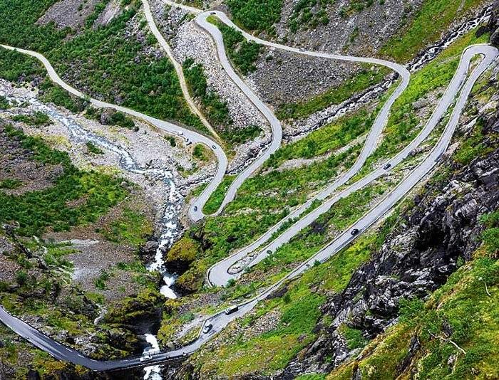 Лестница Троллей в Норвегии. /Фото: avtomir.ua