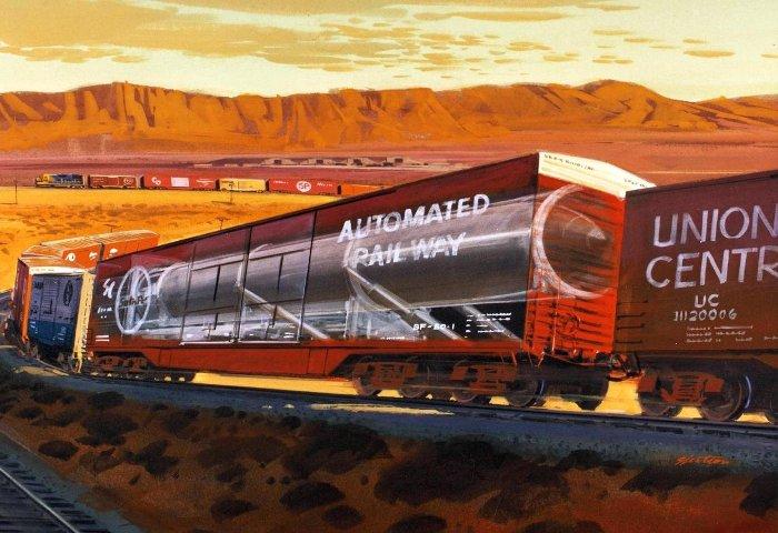 Так американцы видели баллистическую ракету, замаскированную под вагон. /Фото: tech-onliner.by