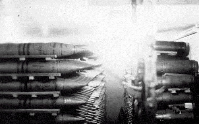 Боеприпасы, сосредоточенные на складах бетонного линкора. /Фото: worldofwarships.ru