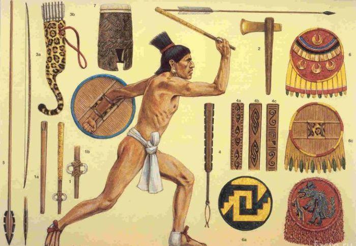 Вооружение ацтекских воинов. /Фото: facte.ru