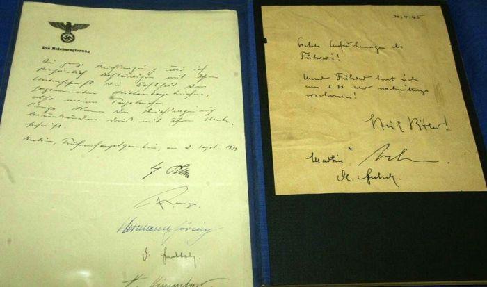 Подделанные копии почерка Гитлера. /Фото: finostan.blogspot.com