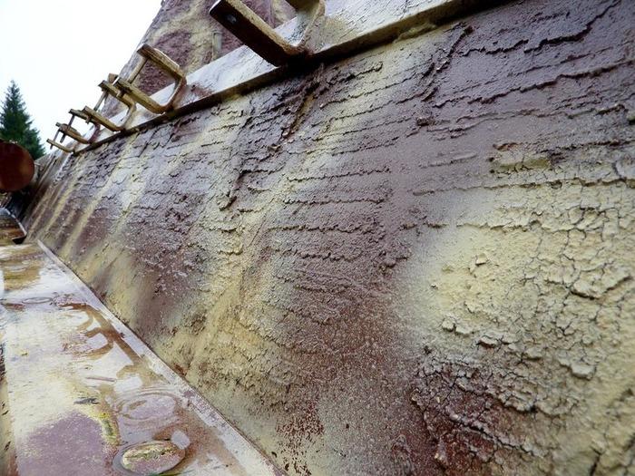 Борт немецкого танка с оригинальным циммеритовым покрытием времен войны. /Фото: popmech.ru