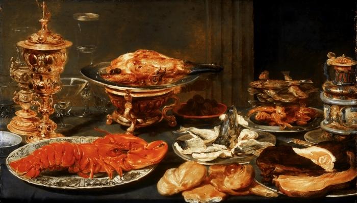 Дичь, рыба, каши, пироги оставались основой застолий. /Фото: blogspot.com