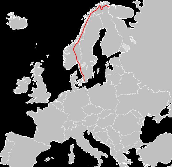 Европейский маршрут Е6. /Фото: wikipedia.org