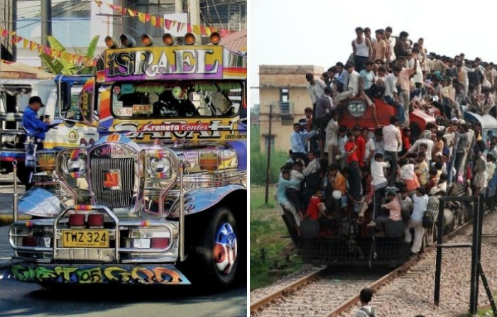 5 неожиданных образцов общественного транспорта, на которые оказался способен человек