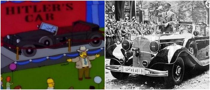 На мультяшной выставке показали реальный автомобиль Гитлера. /Фото: acidcow.com