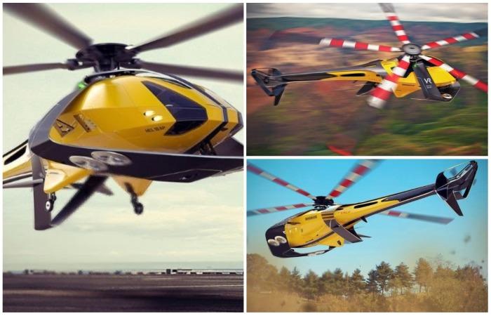 Вертолет займет достойное место в поезде разработок Tesla.  /Фото: behance.net