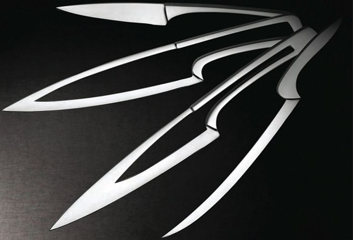 Четыре ножа легко собираются в один. /Фото: vilingstore.net