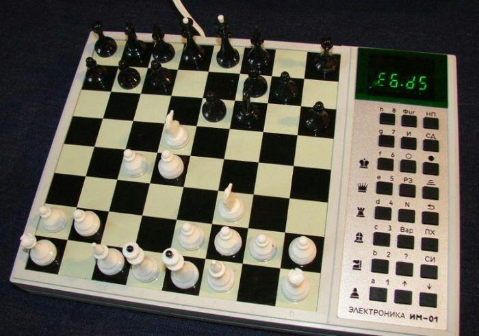 В СССР можно было поиграть в шахматы с компьютером. /Фото: back-in-ussr.com