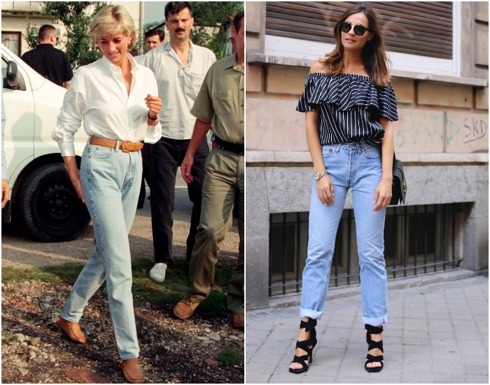 Не самый эстетичный фасон джинсов, а из моды не выходит. /Фото: pinterest.com, ivona.bigmir.net