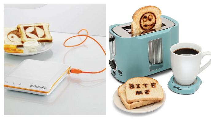 Тостеры, печатающие картинки на хлебе.