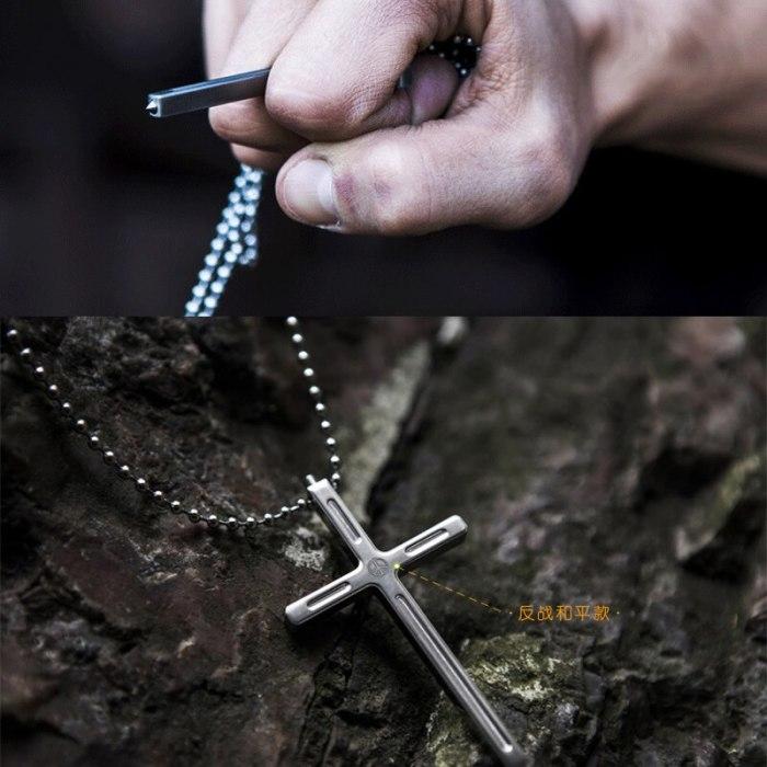 Крестик защитит не только верой, но и титановым сплавом. /Фото: nazya.com