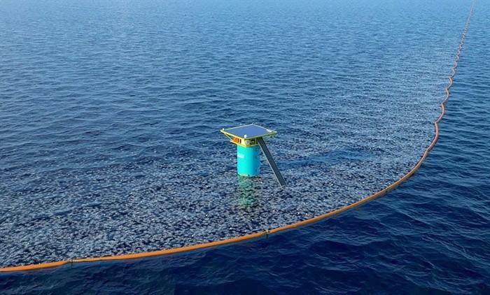Уникальная система успешно борется с мусором в Тихом океане уже сегодня. /Фото: geobronnen.com