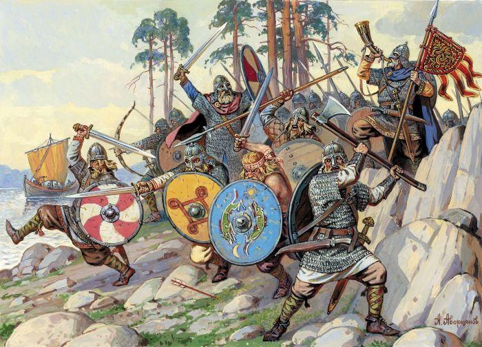 Викинги всячески добывали мечи Ульфберта. /Фото:usiter.com