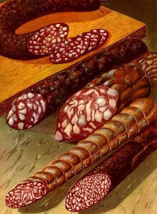 При всем нынешнем разнообразии ассортимента, той самой колбасы уже не отыщешь. /Фото: fishki.net