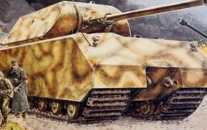 Спустя четверть века немцы создали ещё один супертанк - Maus. /Фото: history-doc.ru
