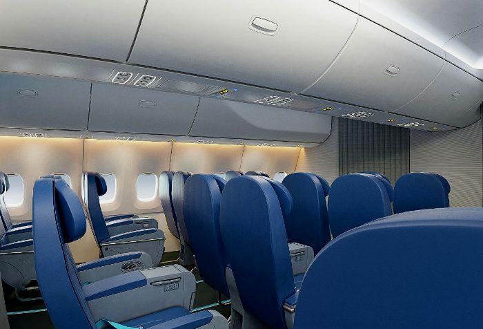 Графический концепт дизайн салона нового самолета. /Фото: frequentflyers.ru