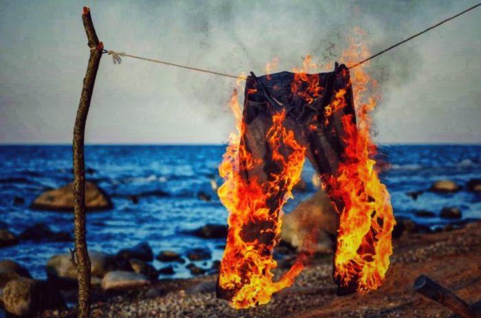 Штаны могли загореться где угодно. /Фото: turkey.sea