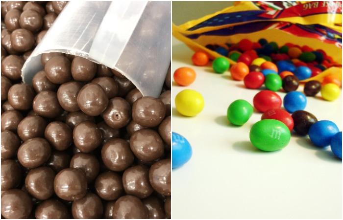 Именно Форрест Марс придумал, как создать шоколадное драже, которое не оставляло бы руки грязными. /Фото: cervejacomchocolate.com.br, fanpop.com