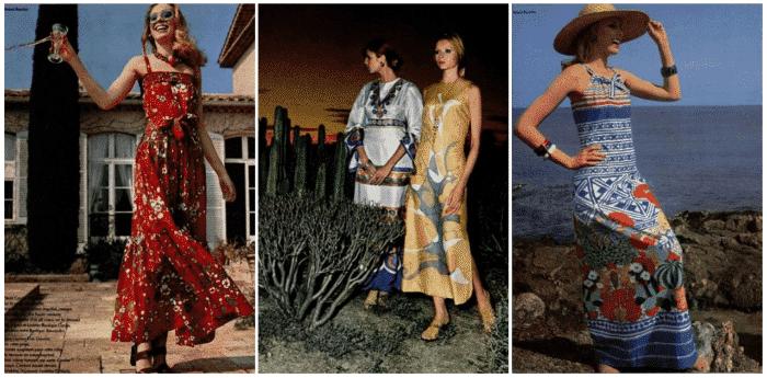 Расцветки платьев были яркими и с принтами. /Фото: cccp.temadnya.com