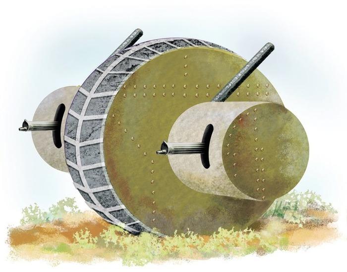 Один из проектов шарообразной бронемашины - танк Лычева. /Фото: popmech.ru