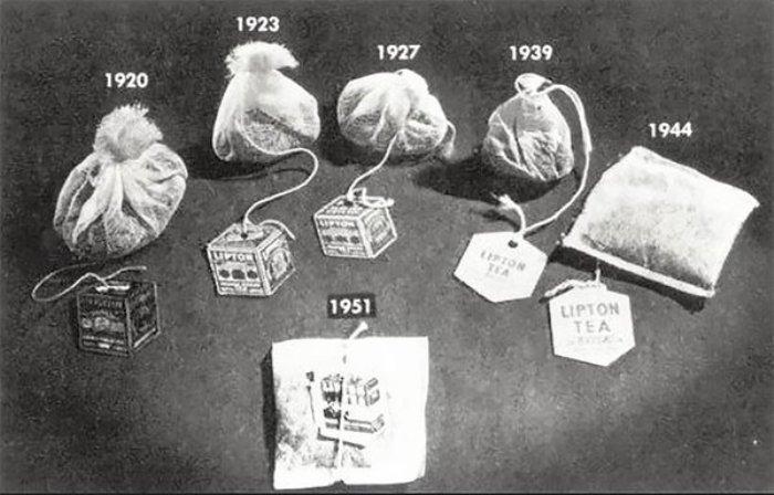 Эволюция чайного пакетика. /Фото: zen.yandex.ru