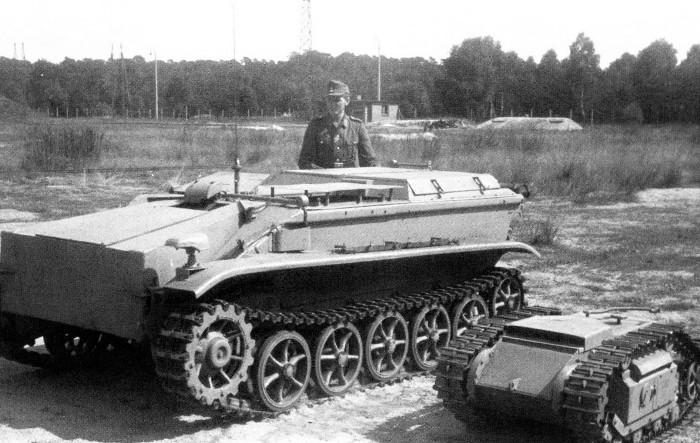 Мина в сравнении с немецкой танкеткой. /Фото: waralbum.ru