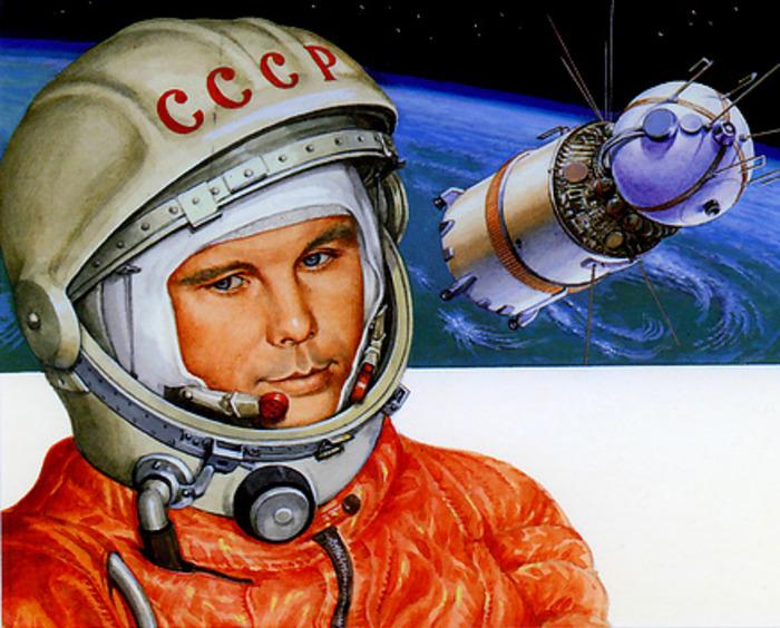 Первые в мире космонавт и спутник. /Фото: bash.news