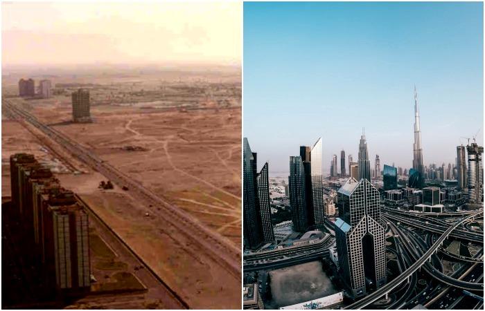 Поразительное разрастание города. /Фото: hmundubai.org, mapme.club