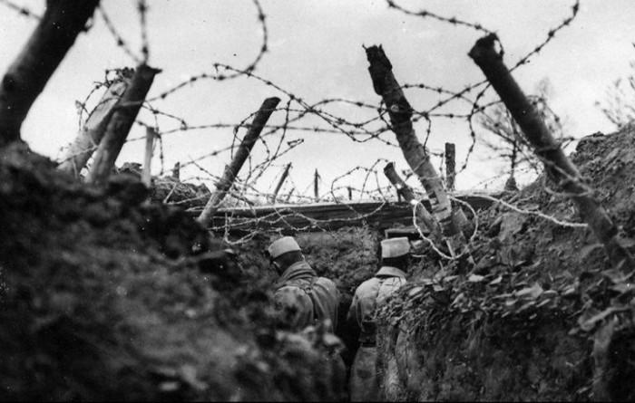 На фронтах Первой мировой войны колючая проволока использовалась повсеместно. /Фото: livejournal.com
